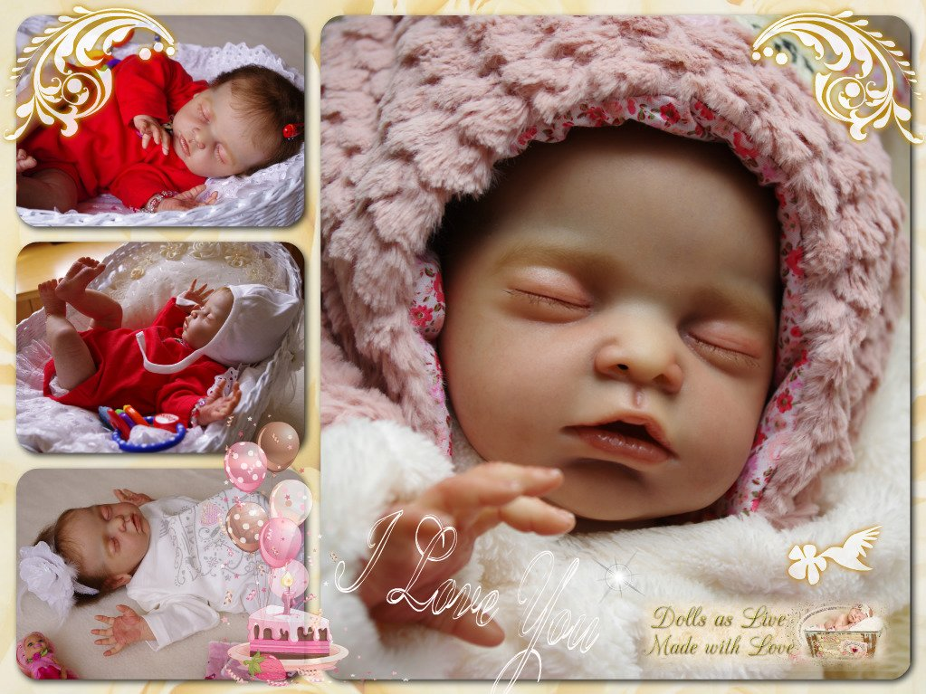 MARLEY: Chloe - Debbie De-Graaf - Dolls as Live - Made with Love - Reborn dolls